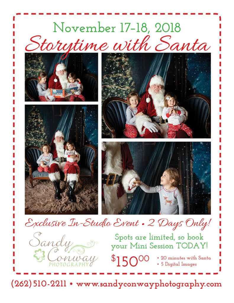 PierLightMedia-Milwaukee-WI_SandyConwayPhotography-SantaEvent_Flyer-2018_LovenoteCreative-Milwaukee-WI