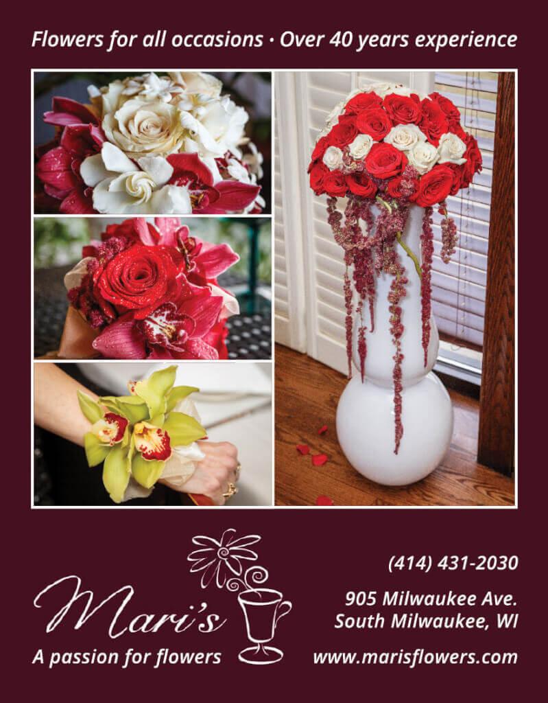 PierLightMedia-Milwaukee-WI_WeddingBrochure-MarisFlowers_Ad