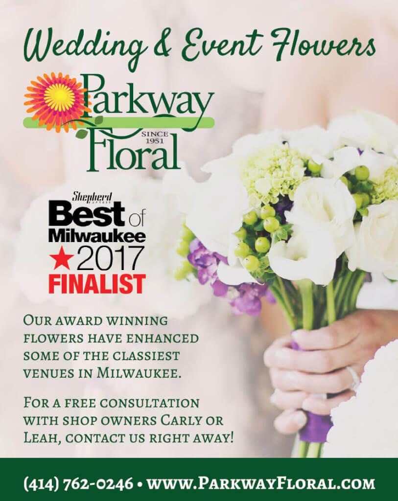 PierLightMedia-Milwaukee-WI_WeddingBrochure-ParkwayFloral_Ad