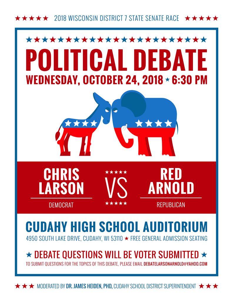 PierLightMedia_Milwaukee-WI_LarsonArnold_debate-flyer
